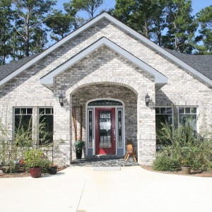 Sandmark custom remodel. Photo of front exterior of a custom home