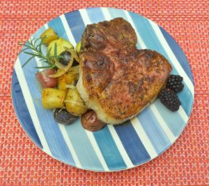 Blueberry Glazed Pork Chops