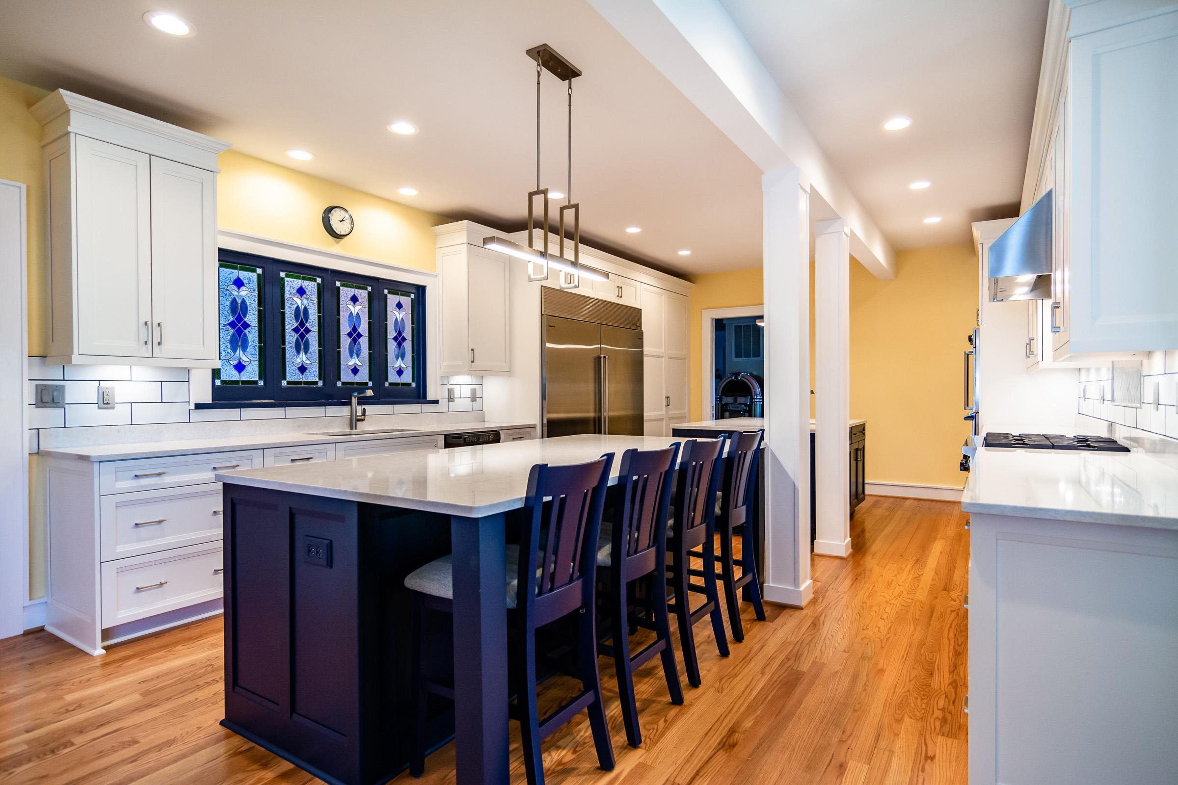 Sandmark Custom Homes remodel of a Mills Point Kitchen.